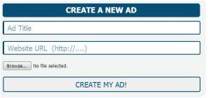 Kris Clicks Create a New Ad